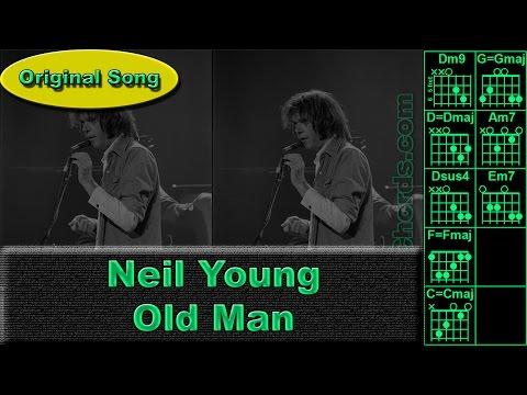 Neil Young - Old Man - Original - Guitar Chords (0019-A1)