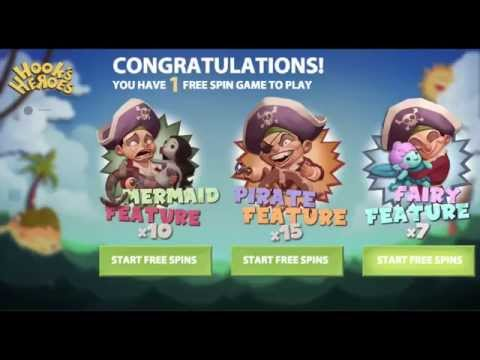 Online Slots Free Spins and £9000 Big Win | Hook's Heroes