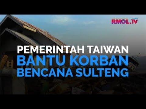 Pemerintah Taiwan Bantu Korban Bencana Sulteng