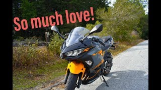 10. 2018 Ninja 400:  Everything I love