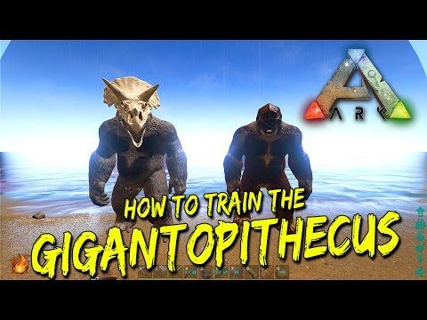 How to tame a Gigantopithecus in Ark (Bigfoot)