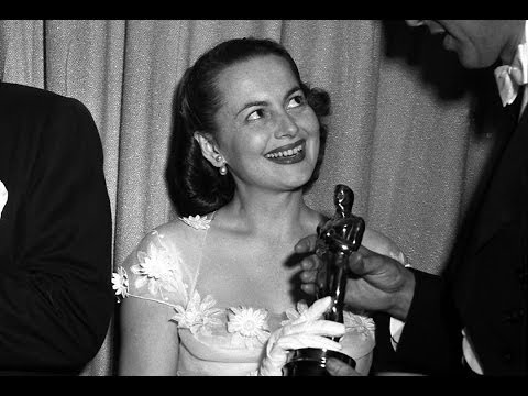 olivia de havilland - James Stewart presents Olivia de Havilland the Oscar for Best Actress for The Heiress at the 22nd Academy Awards. Introduced by Paul Douglas.
