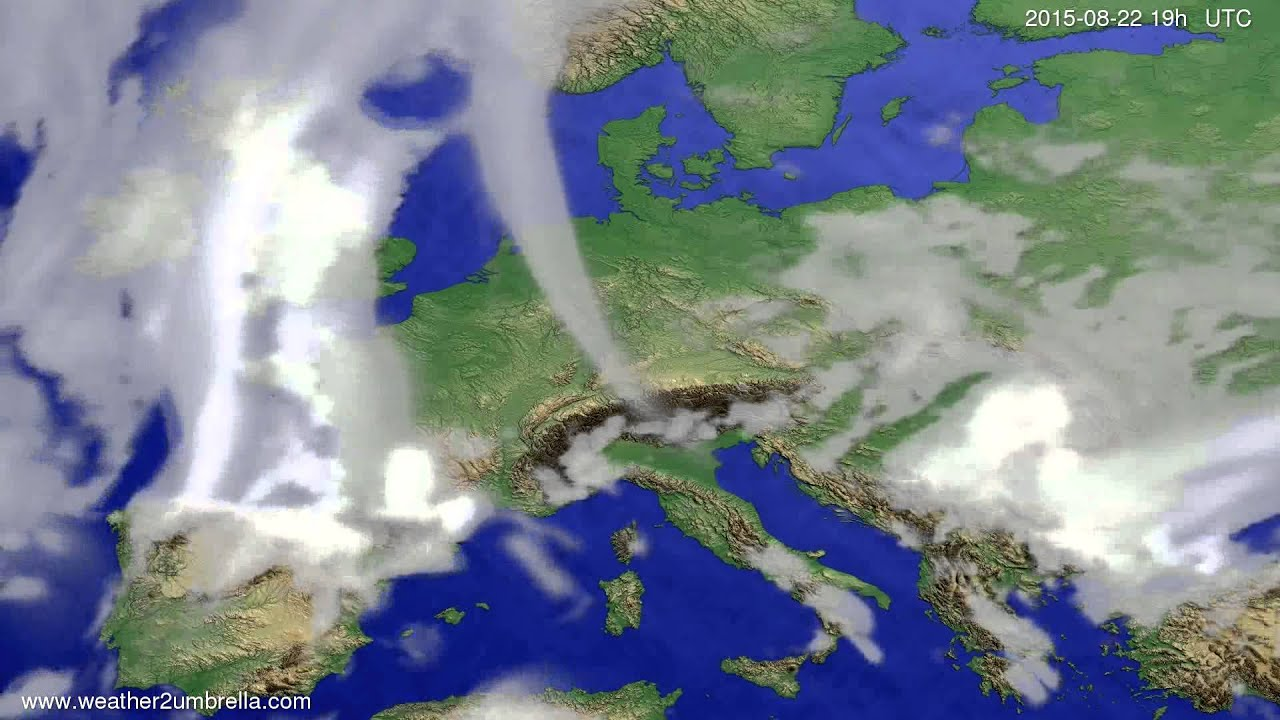 Cloud forecast Europe 2015-08-20
