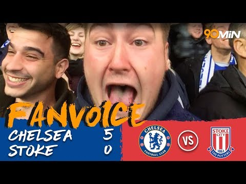 Chelsea 5-0 Stoke | Chelsea smash 5 goals past Stoke to go above Man United! | FanVoice