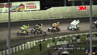 Knoxville Raceway 7-25-15  360 sprints
