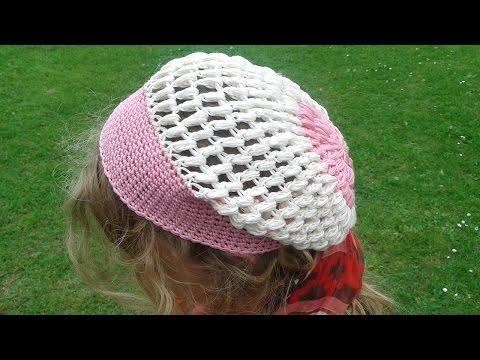 Mütze mit Büschelmaschen häkeln