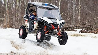 9. Can-Am Maverick XXC 1000 Side by Side ATV In Snow