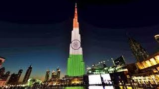Special celebration of republic day as Burj khalifa is lit up in tricolour.