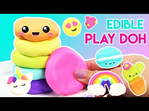 How to Make EDIBLE Play Doh with Marshmallows! (видео)