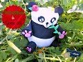bote panda de goma eva - YouTube