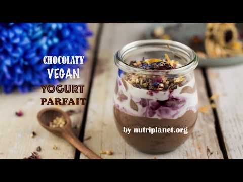 Chocolaty Vegan Yogurt Parfait [Gluten-Free, Sugar-Free]