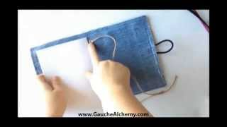How To Upcycle Old Jeans Into An Art Journal - YouTube