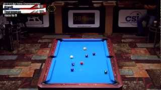 2012 CSI U.S. Bar Table Championships 9 Ball Division Finals Tourangeau Vs Atwell Part 1