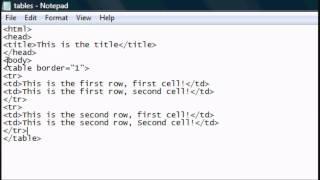 HTML Tutorial 4 - HTML Website Tables & Layouts Tutorial