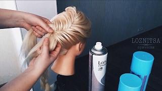 ютуб прически из кос на средние волосы