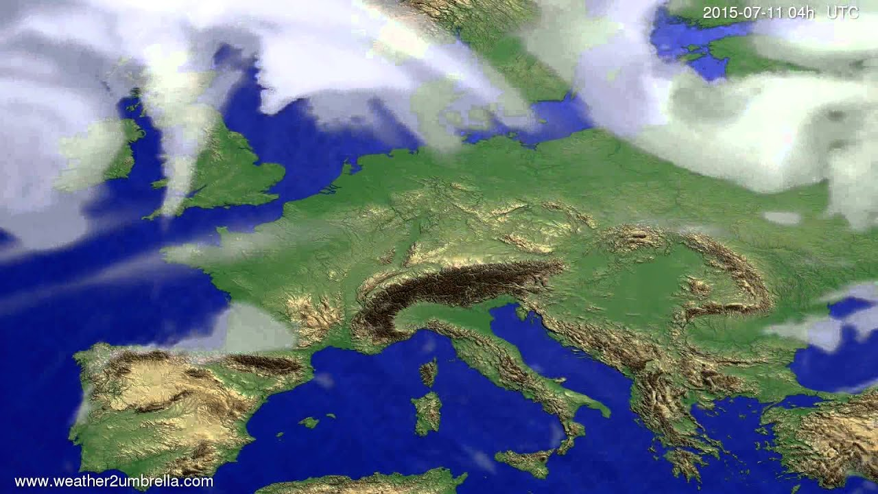 Cloud forecast Europe 2015-07-07