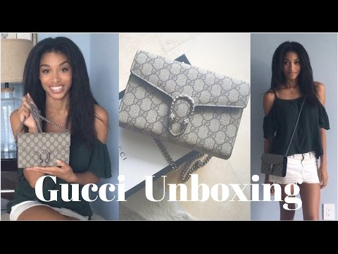 | GUCCI UNBOXING | Dionysus Chain Wallet | KWSHOPS