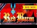 AWESOME RETRIGGER! Red Baron Slot - BIG WIN BONUS!