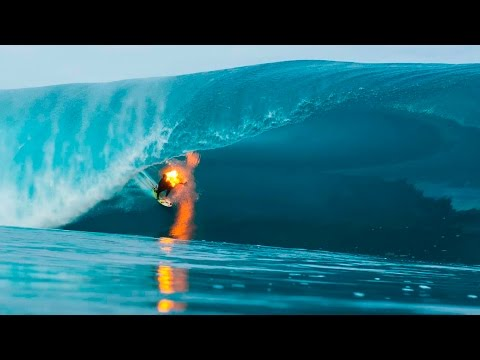 Jamie O Brien Surfs Teahupo o on Fire