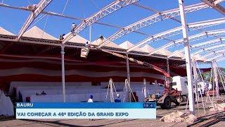 Funcionários fazem força-tarefa para que tudo saia perfeito na Grand Expo Bauru