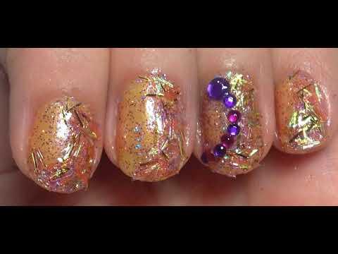 Modelos de uñas - Uñas decoradas glitter Sencillas Faciles y Elegantes