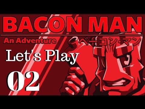 Bacon Man An Adventure Gameplay - Let's Play - #2 - Mountain Mayhem (видео)