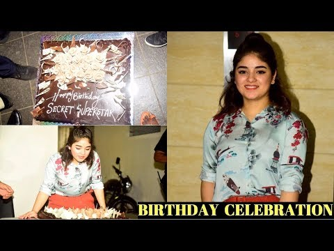 Zaira Wasim Birthday Celebration | Cake Cutting | Secret Superstar |