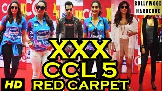 Bipasha Basu, Malaika Arora, Sonam, Varun At Celebrity Cricket League 2015 (CCL 5) Red Carpet