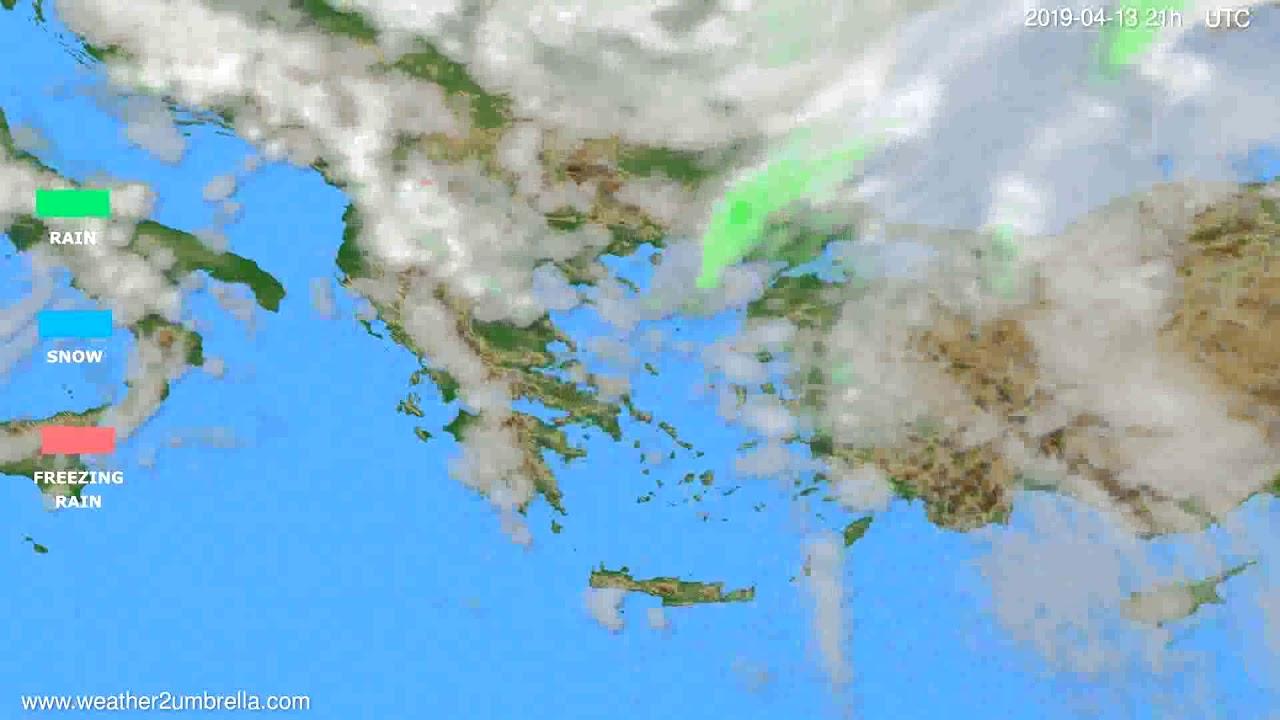 Precipitation forecast Greece // modelrun: 00h UTC 2019-04-12