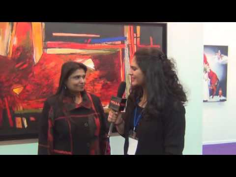 Narayan Chandra Sinha and Sujata Bajaj, at Art Alive Gallery booth, India Art Fair