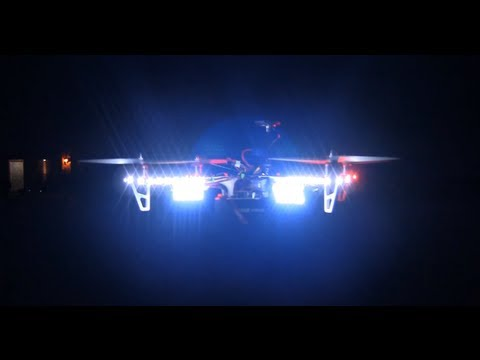 bugilt - Dji f450 quad with led light for night flying. This is the original configuration of my f450. I have since moved over to a TBS discovery frame and added some...