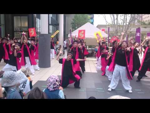 芳泉中学校 うらじゃ イオンモール前 2015.8.2