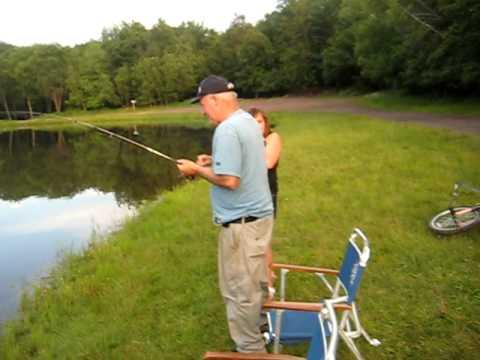 Fishing big bass pond creek lake