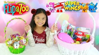 Super Wings Transformers Jet Mira Transforming Flipazoo Easter Basket Surprise ToysSuper Wings Transform-A-Bots, Transforming Jett, and the Vroom N' Zoom Figures.Thanks to Auldey Toys for sending these to us.Visit there website for more info:http://flipazoo.comThese can be found at Walmart or AmazonFlip, FlipaZoo its the toy the flips for you. Not one. IT'S TWO! It's one toy with two sides of fun for everyone. Hold them here and flip them there. They'll flip for you and you'll flip for them! Collect them all two by two.Two sides of fun-for everyone! With a FlipaZoo Toy Pillow, kids will flip for their lovable animal friends! Each fun-stuffed FLipaZoo features 2 fluffy characters that flip back and forth for 2 sides of fun. FlipaZoo is simple and easy to do. Discover the complete FlipaZoo collection for a variety of characters, colors and sizes that are great for on-the-go home. People of all ages will love collecting, FlipaZoo friends, one by two!❤❤❤Social Media❤❤❤♥ Please Subscribe! https://www.youtube.com/c/tianahearts♥ My Twitter: http://twitter.com/TianaHearts♥ My Instagram: http://instagram.com/TianaHearts~~~~~~~~~~~~~~~~~~~~~~~~~~~~~~~~~~~~~~~~~~~~Hi!! Welcome to my channel, my name is Tiana (TT). Mommy and I make videos on stuff that we love and enjoying doing. Here you will find DIY's, toy reviews, vlogs, playing with toys etc..This Channel is family and kid friendly :) Please don't forget to subscribe so you'll know when a new video is posted. If you have any video suggestions let me know :) Thank you for your support  xoxox Tiana & Mommy HeartsToy in other Languages: खिलौने, brinquedos, ของเล่น, اللعب, igračke, đồ chơi, oyuncaklar, leksaker, juguetes, играчке, игрушки, jucării, тоглоом, leker, اسباب بازی, zabawki, 장난감, トイズ, giocattoli, mainan, játékok, צעצועים, Hračky, legetøj, speelgoed, laruan, jouets, Spielzeug, ΠαιχνίδιαMusic is Royalty Free : https://www.audioblocks.com/stock-audio/kids-having-fun.htmlhttp://www.bensound.com/royalty-free-musicKlonkey 