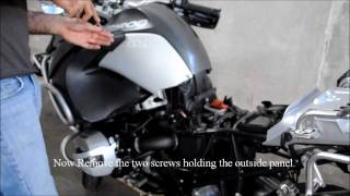 7. Installing a power socket on 2011 BMW R1200GS Adventure