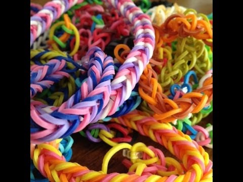 How to make fishtail bracelets with rubber bands