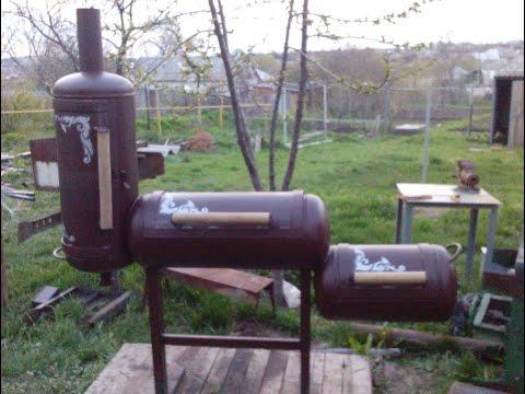 Коптильня гриль из газовых баллонов