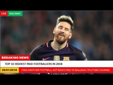 Top 10 Highest Paid Footballers in 2018