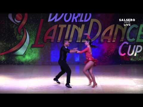 Max Pinto & Erica Merino, Venezuela, Salsa on 1 Man Lead, Final Round, WLDC 2015