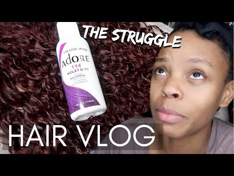 Hair color - Black to Purple Tutorial Struggle  Ft. Beauty Forever Hair