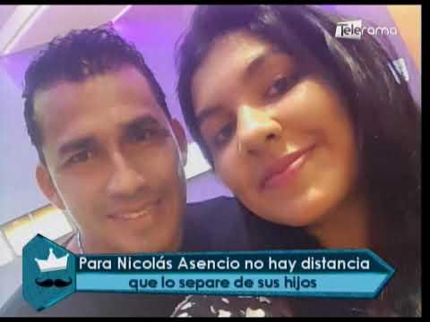 Para Nicolás Asencio no hay distancia que lo separe de sus hijos
