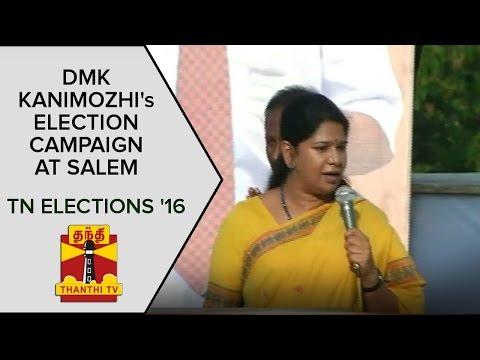 DMK-Kanimozhis-Election-Campaign-Speech-in-Salem--Thanthi-TV