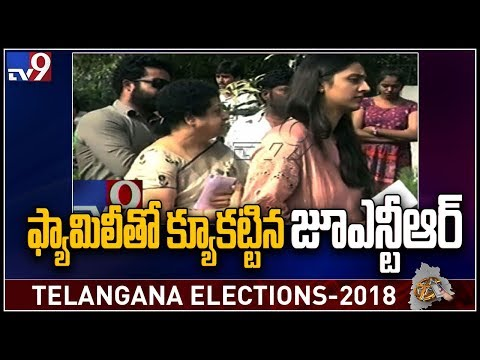 Jr NTR message to voters || Telangana Elections 2018 - TV9