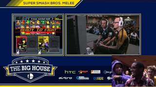 Shroomed, Plup and the Moon in the crowd commentating SFAT v Mew2king from TBH6 (including some classic drunk Shroomed)