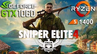 Sniper Elite 4 : GTX 1060 - Ryzen 5 1400System: Windows 10AMD Ryzen 5 1400 3.2GhzGTX 1060 6Gb16Gb RAM