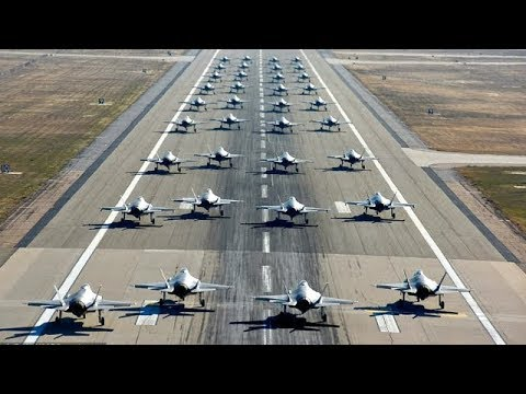 U.S. Air Force Has First F-35 'Elephant Walk' Mass Drill