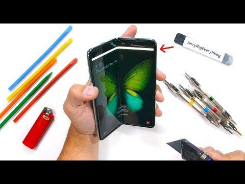 Samsung Galaxy Fold Durability Test! - Is it STILL fragile?! видео