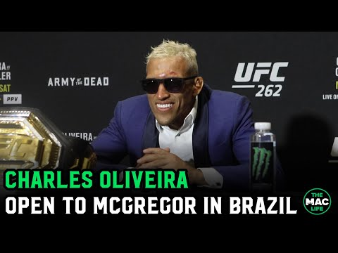 Charles Oliveira open to Conor McGregor UFC lightweight title fight in Brazil