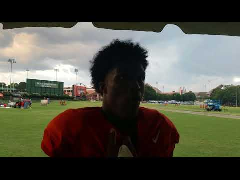 TigerNet: Ray Ray McCloud after practice - 8.21.17