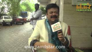 Madhan Bob at Ka Ka Ka Po Movie Shooting Spot